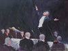 "Robert Waltsak (American, b. 1944) ""The Concert"", oil on canvas, contemporary"