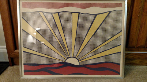 "Roy Lichtenstein (American, 1923-1997), ""Sunrise"" (C.II.7), 1965, offset lithograph in colors, signed"
