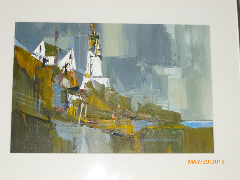 "J. Thurston Marshall (American, 1908-1982), ""North East Beacon"", Cape Elizabeth Lighthouse, Maine, acrylic on board, signed"