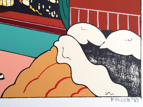 "Ken Price (American, 1935-2012), ""Bedroom"", from The Plain of Smokes, 1981, silkscreen in colors, ed. 35"