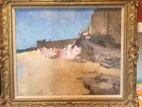 Attributed to Francis Murray Russell Flint (1915-1977), French Coast, near Bretagne, oil on canvas