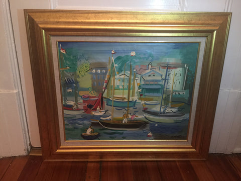 Charles Cobelle (French, 1902-1998), Sailing Scene, oil on canvas, signed