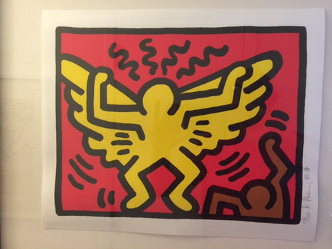 Keith Haring (American, 1958-1990), Pop Shop IV (1), 1989, screenprint in colors, signed and dated, numbered 113/200