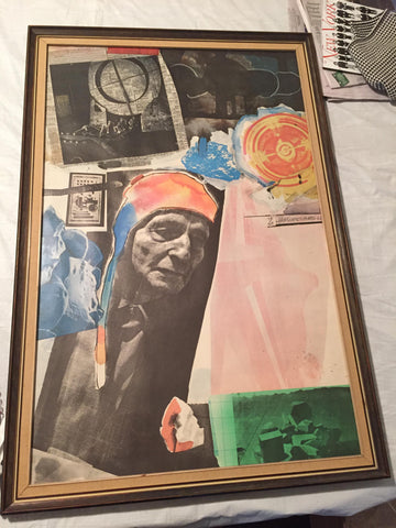 "Robert Rauschenberg (American, 1925-2008), ""Homage to Frederick Kiesler"", 1966, offset lithograph in colors, signed"