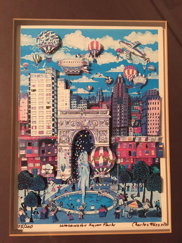 "Charles Fazzino (American, b. 1955), ""Washington Square Park 3-D"", 1984, screenprint, signed"