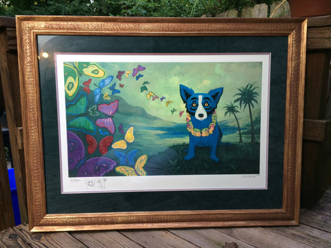 George Rodrigue (American, 1944-2013), Hawaiian Blues, ca. 2000, screenprint in colors, signed