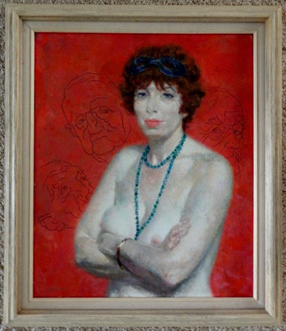 Joseph Hirsch (American, 1901-1981) , Portrait of a Woman with Necklace, oil on canvas, signed