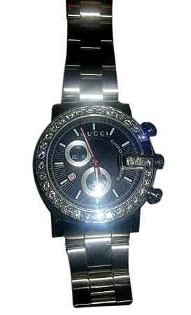 Diamond and Stainless Steel Chronograph Quartz Wristwatch