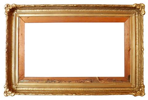 Two Similar Gilt and Gessoed Frames