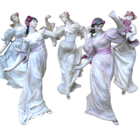 Five French Art Nouveau Bisque Dancers
