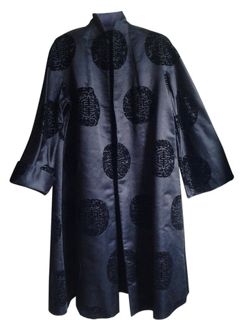 Black Chinese Silk Coat