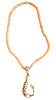 Tibetan Red Coral Necklace with Dzi Bead Pendant