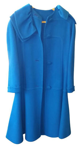 Galanos Blue Dress Coat