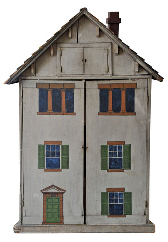 American Painted Wood Dollhouse
