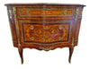 Pair of Louis XV/XVI Transitional Style Marquetry Commodes