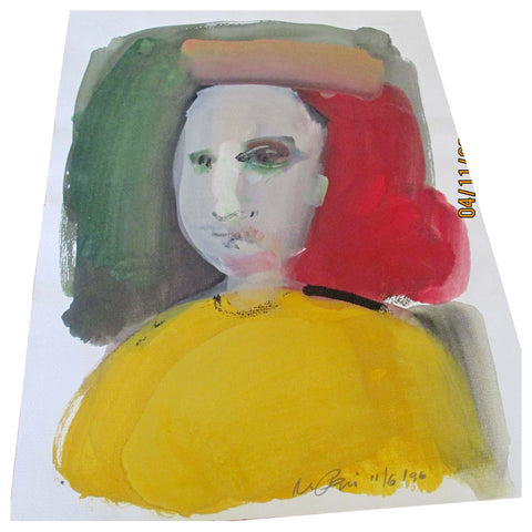 Vincent Pepi (American, b. 1926), Three Portraits, 1960-1996, watercolor on paper, signed