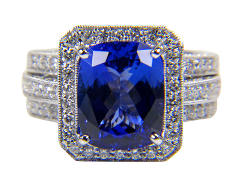 18K White Gold, Tanzanite and Diamond Ring