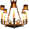 French Empire Style Bronze Six-Light Chandelier