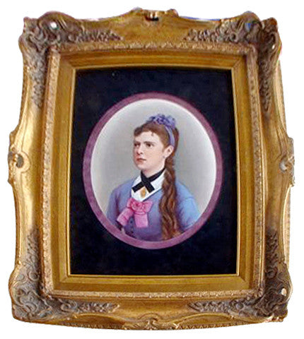 Berlin (K.P.M.) Porcelain Portrait Plaque of a Young Woman
