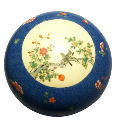 Chinese Famille Rose Porcelain Covered Circular Box