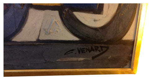 Claude Venard (French, 1913-1999), Untitled (Car), oil on canvas, signed, ca. 1970s