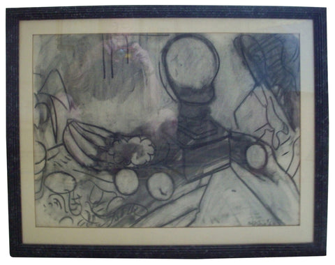 Robert De Niro, Sr. (American, 1922-1993), Still Life, charcoal on paper, signed and dated 1960