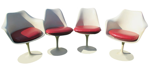 "Set of Four ""Tulip"" Chairs, designed ca. 1956 by Eero Saarinen (Finnish/American, 1910-1961), manufactured by Knoll International, two sidechairs and two armchairs, Model 151"
