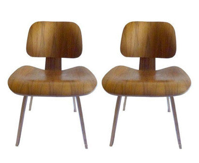 Pair of American Mid-Century Style Molded Plywood Chairs
