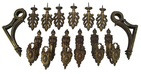Neoclassical Style Gilt-Bronze Curtain Hardware