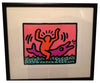Keith Haring (American, 1958-1990), Pop Shop V: one plate, screenprint, with estate stamp, numbered 81/200, 1989