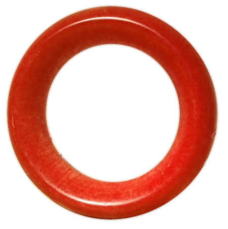 Carved Red Jade Bangle