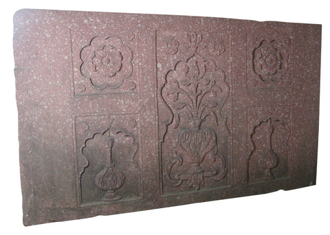 Mughal Style Carved Sandstone Architectural Panel, Northern India, 19th/20th century