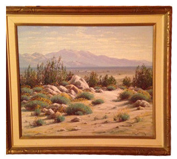 "Paul Grimm (American, 1891-1974), ""Desert Spring"" (Encelias), oil on canvas, signed and dated 1947"