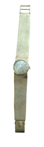 18K Gold Ladies Dress Wristwatch and Bracelet
