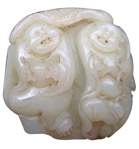 Chinese Carved Celadon Nephrite Hand Piece