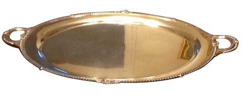 American Silver Two-Handled Serving Tray