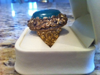 18K Yellow Gold and Cabochon Emerald Ring, early 20th century
