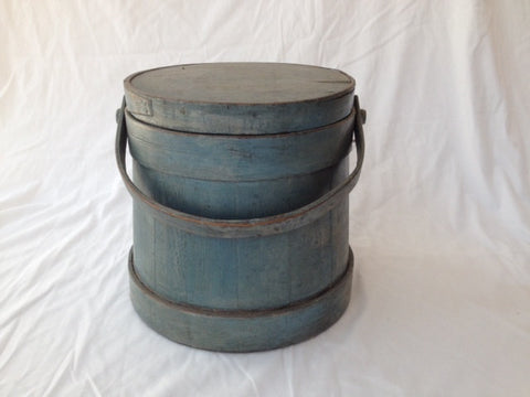New England Painted Firkin with Lid
