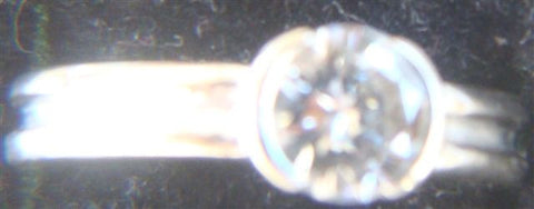14K White Gold and Diamond Ring, round brilliant cut, 0.90ct., E color, VS1 clarity, with GIA certificate