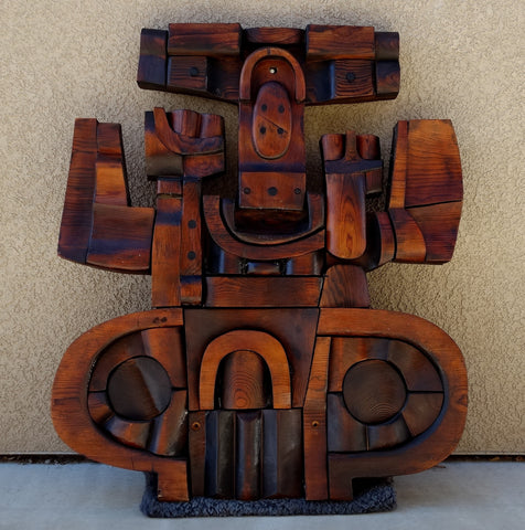 Harold Balazs (American, b. 1928), Untitled, wooden variation of Liberty Lake Country Club sculpture, Spokane, WA