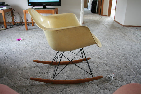 "American Fiberglass ""RAR"" Rocking Chair, designed by Charles and Ray Eames for Herman Miller, circa early 1950s"