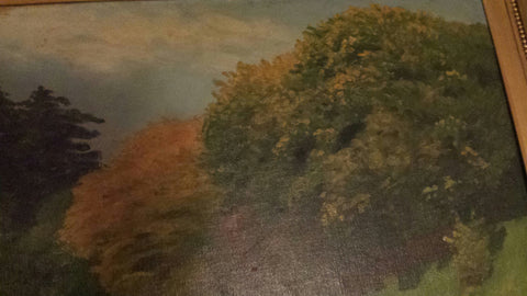 P‡l Szinyei Merse (Hungarian, 1845-1920), Landscape, oil on canvas laid on board, signed