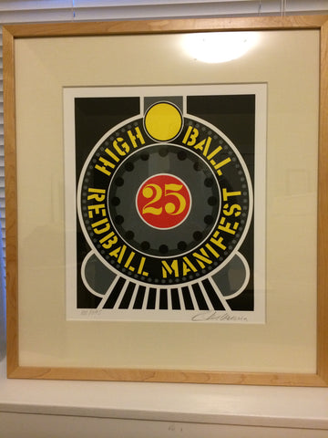 "Robert Indiana (American, b. 1928), ""High Ball Redball Manifest"", signed and dated 1997, numbered 100/395"