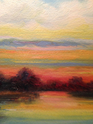 R. C. Johnson (American, 20/21st Century), Landscape at Sunset, oil on canvas, signed