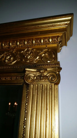 American Classical Revival Giltwood Mirror, late 19th century