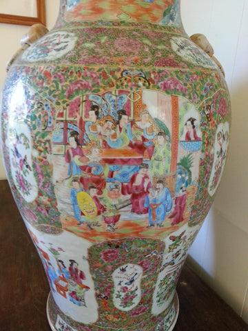 Chinese Rose Canton Porcelain Vase, late Qing Dynasty
