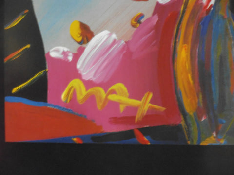 Peter Max (German/American, b. 1937), Faciliti Link Flowers, mixed media, signed