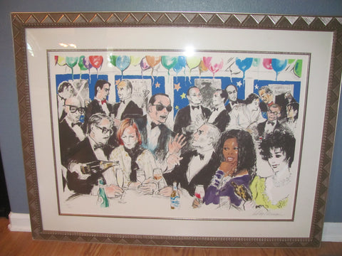 Leroy Neiman (American, 1921-2012), Celebrity Night at Spago, screenprint in colors, signed in pencil, 1993