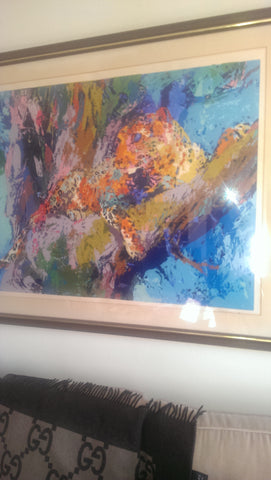 LeRoy Neiman (American, 1927-2012), Leopard, serigraph in colors, signed and numbered, 20th century
