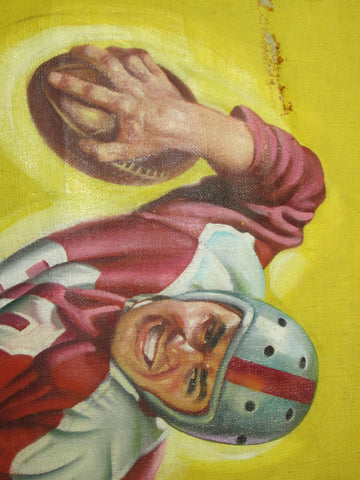 Earle Bergey (American, 1901-1952), Football Player, Sports Pulp Cover, oil on canvas, 1949
